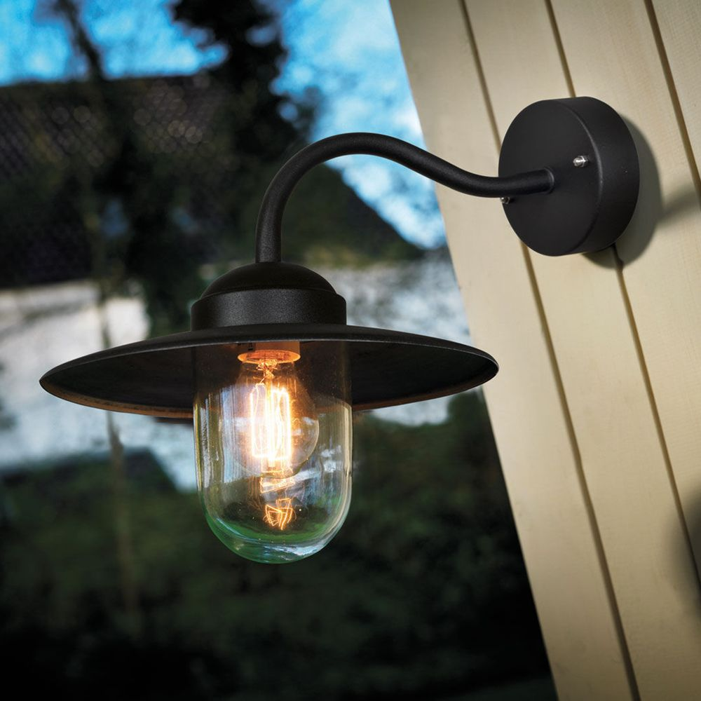 Nordlux Luxembourg Outdoor Wall Light With Pir Sensor Black : Buy Nordlux Luxembourg Outdoor Wall Light, Black John Lewis